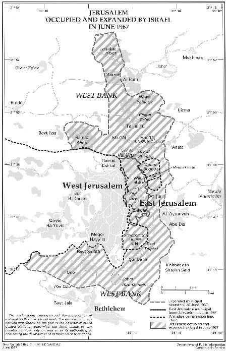 Это – карта-схема Иерусалима,
