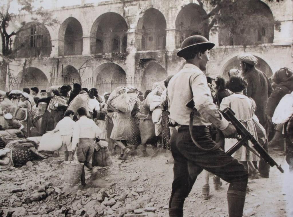 Арабский легион изгоняет из Иерусалима еврейских жителей. Снимок 1.
